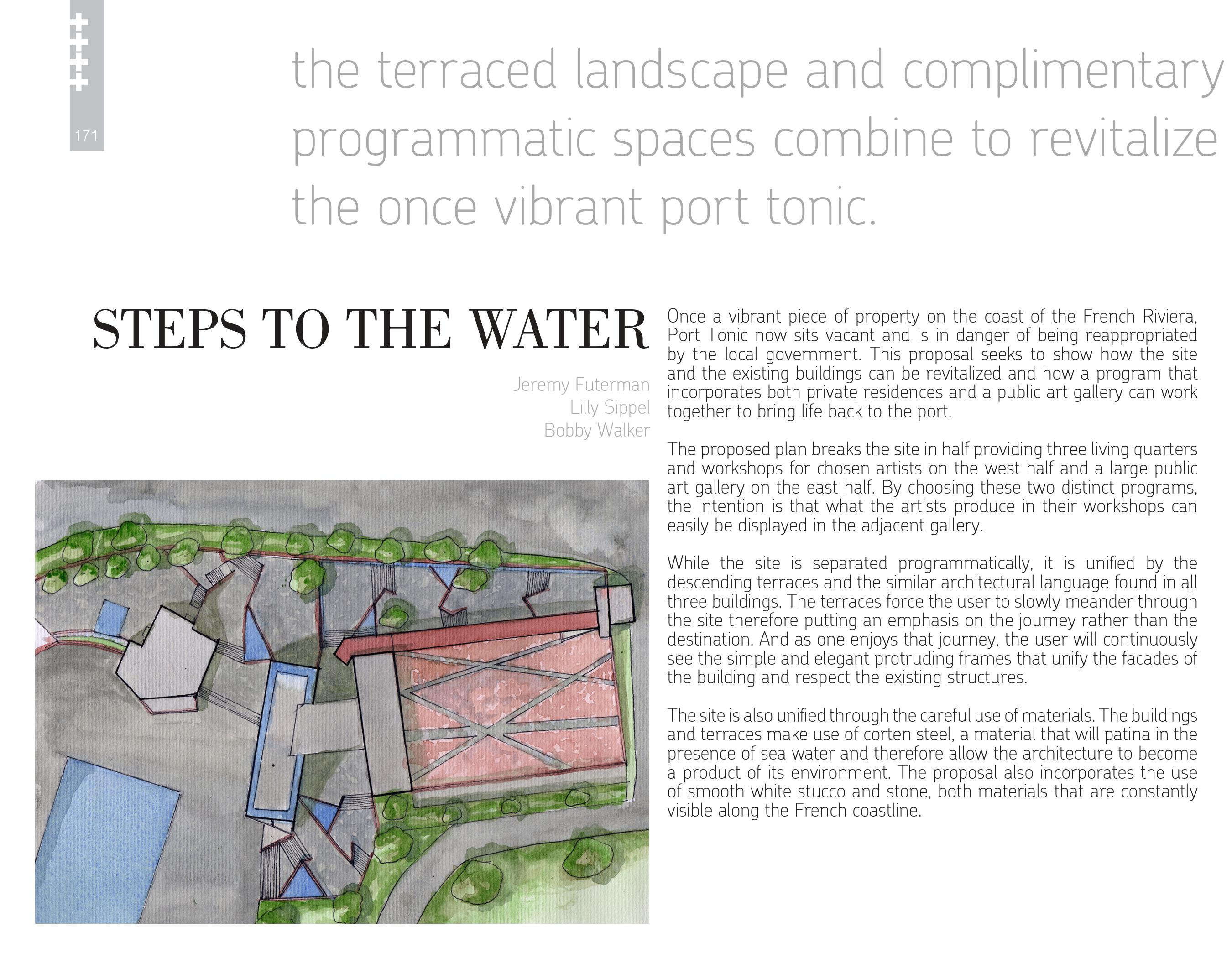 Steps to the Water | Port Tonic Art Center